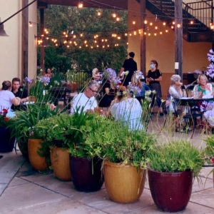 people at a santa rosa restaurant patio